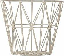 Ferm Living Drahtkorb Korb klein grau Wire Basket