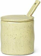 ferm LIVING - Flow Marmeladenglas mit Löffel, gelb