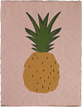 ferm Living - Fruiticana Kinderdecke, 80 x 100 cm, Ananas