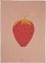 ferm Living - Fruiticana Kinderdecke, 80 x 100 cm, Erdbeere