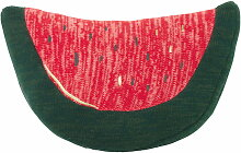 ferm Living - Fruiticana Kissen Melone, grün / rot