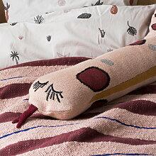 ferm Living - Fruiticana Snake Kissen, rosa