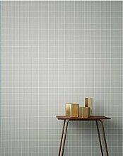 Ferm Living Grid Wallpaper - Dusty Green