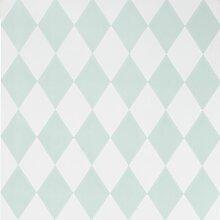 Ferm Living Harlequin Tapete Mint (l) 1005 X (b)