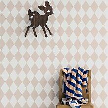 Ferm Living Harlequin Tapete Rosa (l) 1005 X (b) 53 Cm