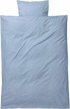 Ferm Living Hush Yarn Dyed Bettwäsche 110x140 Hellblau (l) 140 X (b) 110 Cm