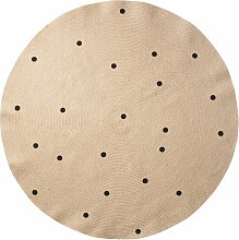 ferm Living - Jute Carpet, Black dots, large