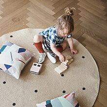 ferm Living - JuteCarpet, Black dots, large