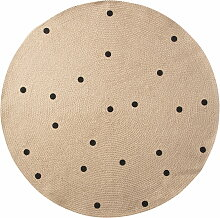 ferm Living - Jute Carpet, Black dots, small