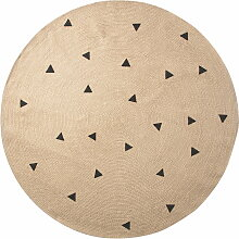 ferm Living - Jute Carpet, Triangle, large Ø 130