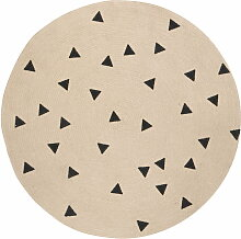 ferm Living - Jute Carpet, Triangle, small Ø 100 cm