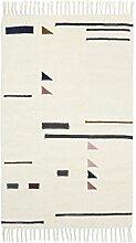 ferm LIVING Kelim Colour Triangles Teppich klein, mehrfarbig 80x140cm chemisch reinigen