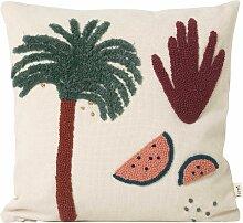 Ferm Living Palm Kissen 40x40 (b) 40 X (t) 40 Cm