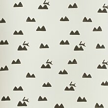 Ferm Living Rabbit Tapete Weiß (l) 1005.00 X (b)