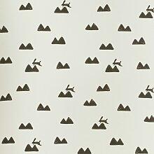Ferm Living Rabbit Tapete Weiß (l) 1005 X (b) 53 Cm