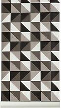 Ferm Living Remix Tapete Grau (b) 53.00 X (h) 1005.00 Cm