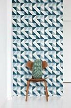 Ferm Living Remix Wallpaper - Blue