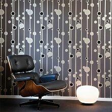 Ferm Living Walldots Tapete Grau (l) 1005 X (b) 53 Cm