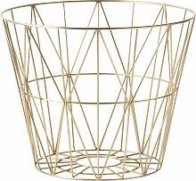 Ferm Living Wire Basket Brass Aufbewahrungskorb