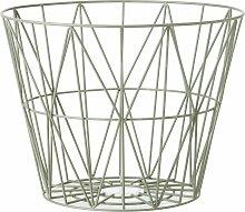 Ferm Living Wire Basket Korb Dusty Green Small (h)