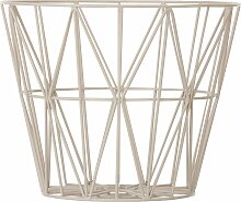 Ferm Living Wire Basket Korb Grau Medium (h) 40 X