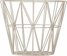 Ferm Living Wire Basket Korb Grau Small (h) 35.00