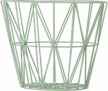 Ferm Living Wire Basket Korb Grün Medium (h)
