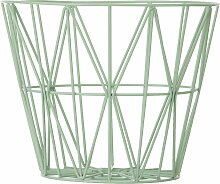Ferm Living Wire Basket Korb Grün Medium (h) 40 X