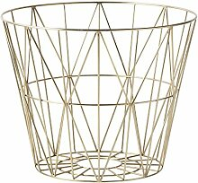 Ferm Living - Wire Basket Korb - Messing - L -