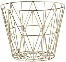 ferm LIVING - Wire Basket Korb - messing - M -