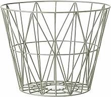 Ferm Living - Wire Basket Korb - nebelgrün - S -