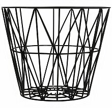 Ferm Living Wire Basket Korb Schwarz Medium (h) 40