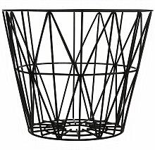 Ferm Living Wire Basket Korb Schwarz Small (h)