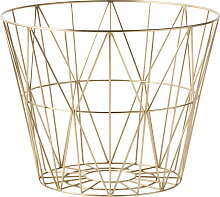 ferm Living - Wire Basket Large, messing