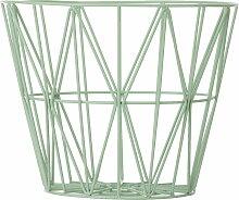ferm Living - Wire Basket Medium, mint