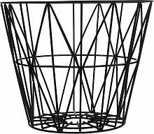 ferm Living - Wire Basket Medium, schwarz