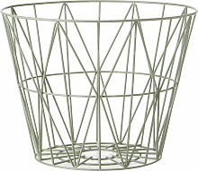 ferm Living - Wire Basket Small, dusty green