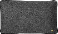 Ferm Living Wool Kissen 60x40 Dunkelgrau (l) 60.00 X (b) 40.00 Cm