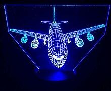 Fernbedienung Boeing Flugzeug 3D Led Lampe