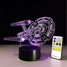 Fernbedienung Touch Control 3D Star Trek Led Lampe