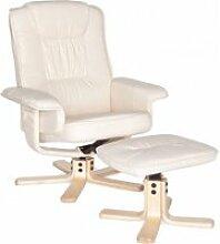 Fernseh Relax-Sessel mit Bezug aus Kunstleder,