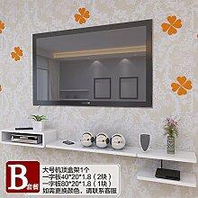 Fernsehen Set-Top-Boxen Racks Wohnzimmer Dekoration Wohnzimmer TV Schrank Wand montiert Regal Router Airs B
