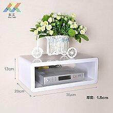Fernsehen Set-Top-Boxen Racks Wohnzimmer Dekoration Wohnzimmer TV Schrank Wand montiert Regal Router Airs 35*13*20-white ligh