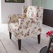 Fernsehsessel im Blumenmuster Design Creme