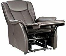 Fernsehsessel M braun Leder Relaxsessel TV Sessel mit Aufstehhilfe 2 Motoren günstig