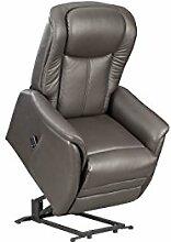 Fernsehsessel XXL braun Leder Relaxsessel TV Sessel mit Aufstehhilfe 2 Motoren günstig