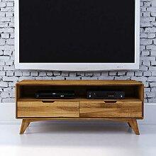 Fernsehtisch aus Wildeiche Massivholz 120 cm breit