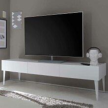 Fernsehtisch in Weiß 50 cm hoch