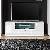 Fernsehtisch in Weiß Hochglanz LED Beleuchtung