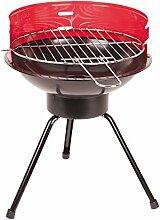 Ferraboli Grill Barbecue Bucaneve schwarz/rot 39 x 39 x 49 cm kleiner Festivalgrill